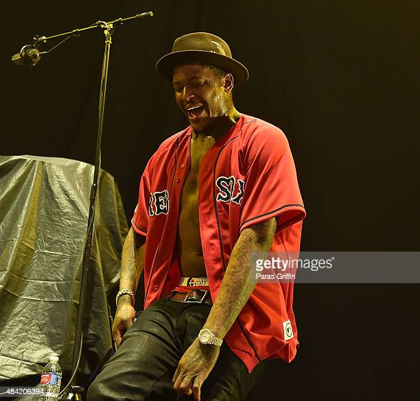 Rapper YG performs in concert at Aarons Amphitheatre at Lakewood on August 15 2015 in Atlanta Georgia