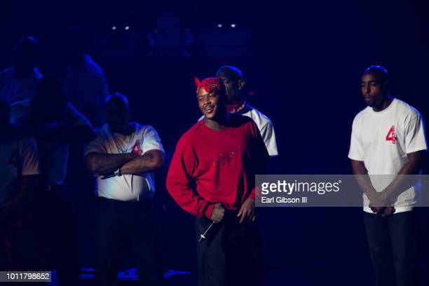 Rapper YG performs in concert for new album 'Stay Dangerous' at Microsoft Theater on August 5 2018 in Los Angeles California