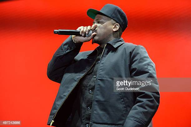 Rapper YG performs onstage at the Los Angeles Memorial Coliseum on November 14 2015 in Los Angeles California