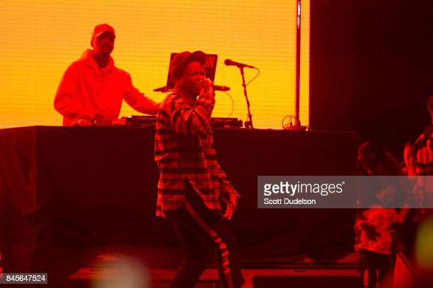 Rapper YG performs onstage during the Day N Night Festival at Angel Stadium of Anaheim on September 10 2017 in Anaheim California