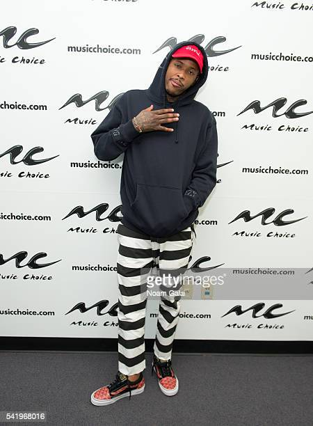 Rapper YG visits Music Choice on June 21 2016 in New York City