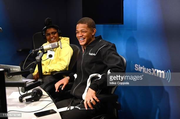 Rapper YK Osiris visits SiriusXM Studios on February 27 2019 in New York City