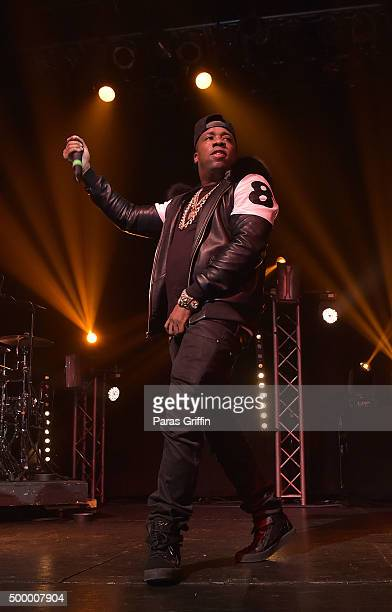 """Rapper Yo Gotti performs at """"The 8 For 8 Tour"""" at Center Stage on December 4, 2015 in Atlanta, Georgia."""