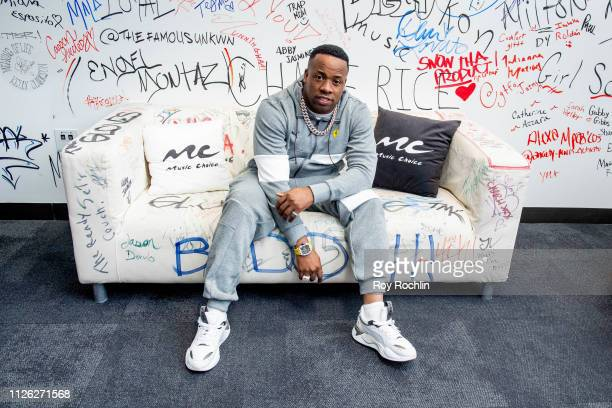 Rapper Yo Gotti visits Music Choice on January 30, 2019 in New York City.