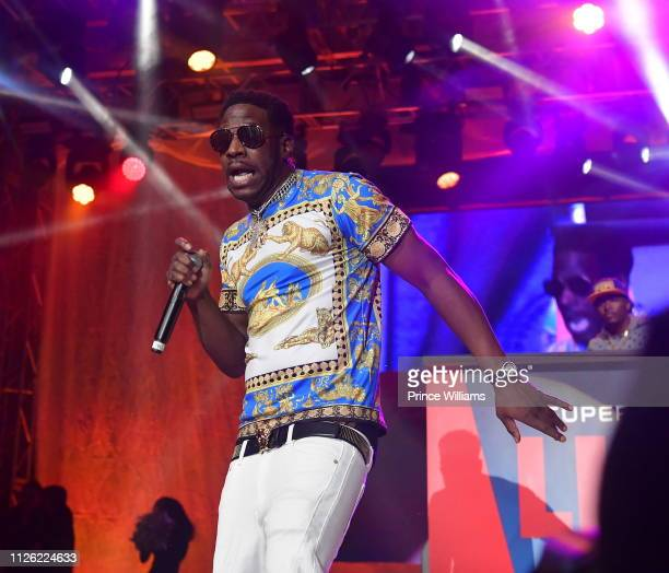 Rapper Young Dro performs at 2019 Super Bowl Live at Centennial Olympic Park on January 28, 2019 in Atlanta, Georgia.