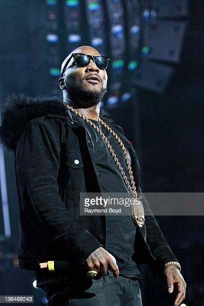 Rapper Young Jeezy performs during the WGCIFM 'Big Jam' concert at the Allstate Arena in Rosemont Illinois on DECEMBER 23 2011