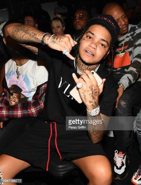 Rapper Young MA attends BET Hip Hop Awards 2018 at Fillmore Miami Beach on October 6 2018 in Miami Beach Florida