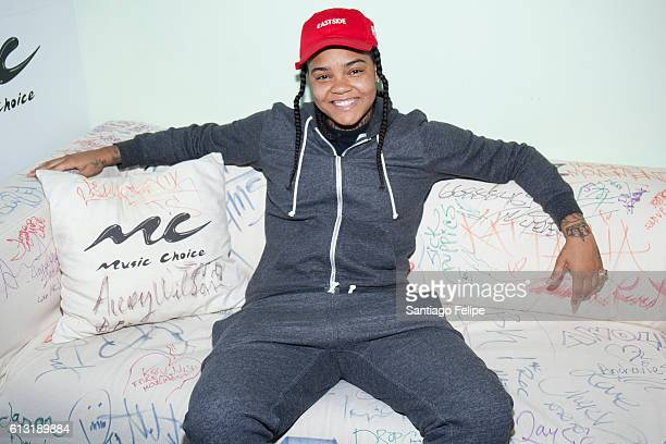 Rapper Young MA Visits Music Choice on October 7 2016 in New York City