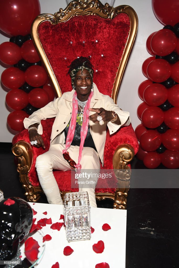 Rapper Young Thug at his private birthday Celebration at Tago International on August 16, 2017 in Atlanta, Georgia.