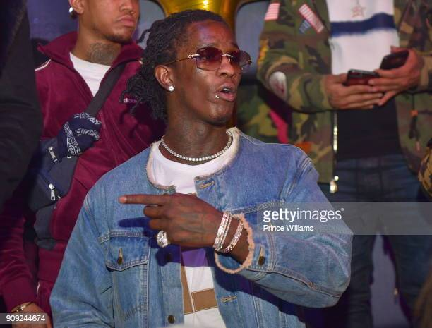 Rapper Young Thug attends Breakfast With 5am at SL Lounge on January 22 2018 in Atlanta Georgia