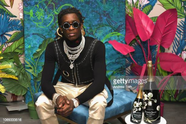 Rapper Young Thug attends L'Eden by PerrierJouët on December 6 2018 in Miami Beach Florida