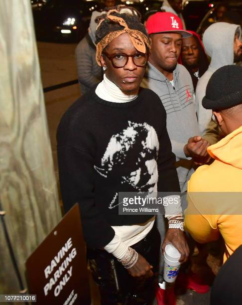 Rapper Young Thug attends Lil Baby Birthday Bash at Ravine on November 4 2018 in Atlanta Georgia
