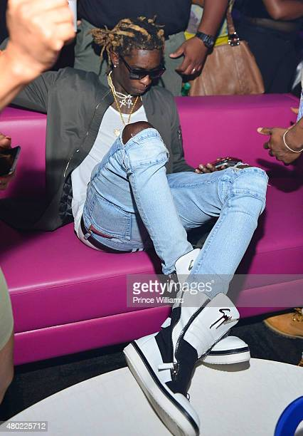 Rapper Young Thug Attends Meek Mill Album Release Party at Gold Room on July 9 2015 in Atlanta Georgia