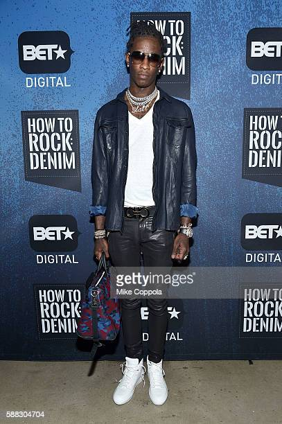 Rapper Young Thug attends the BET How To Rock Denim at Milk Studios on August 10 2016 in New York City