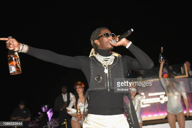 Rapper Young Thug performs at L'Eden by PerrierJouët on December 6 2018 in Miami Beach Florida