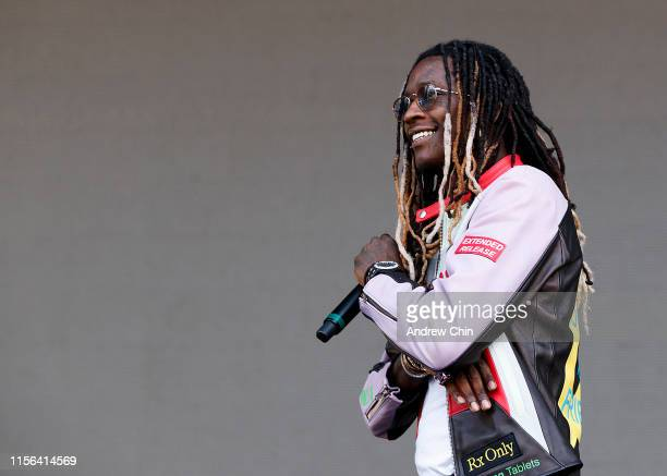 Rapper Young Thug performs onstage during Breakout Festival 2019 at PNE Amphitheatre on June 16 2019 in Vancouver Canada