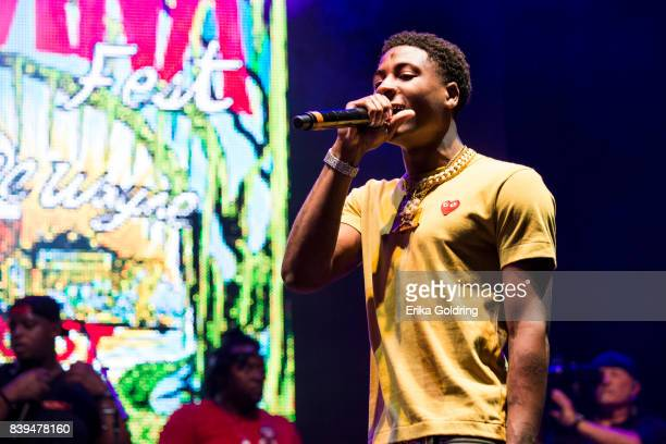 Rapper YoungBoy Never Broke Again performs during Lil Weezyana at Champions Square on August 25 2017 in New Orleans Louisiana