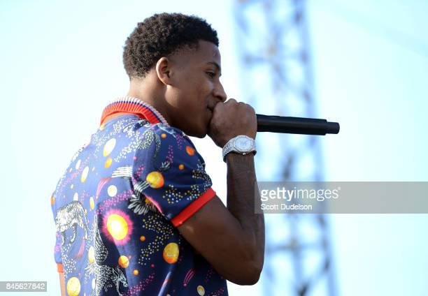 Rapper Youngboy performs onstage during the Day N Night Festival at Angel Stadium of Anaheim on September 10 2017 in Anaheim California