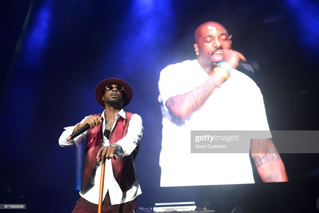 Rapper Yukmouth from Luniz performs onstage during the 93.5 KDAY Krush Groove 2017 concert at The Forum on April 22, 2017 in Inglewood, California.