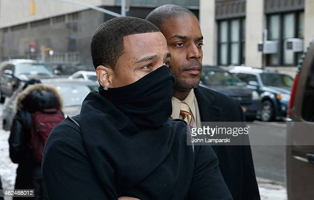 Rapper Yung Berg also known as Christian Ward appears at New York City Supreme Court on January 29 2015 in New York City Yung Berg was arrested for...