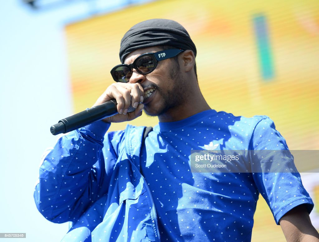 Rapper Yung Gleesh performs onstage during the Day N Night Festival at Angel Stadium of Anaheim on September 10, 2017 in Anaheim, California.