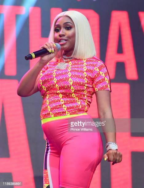 Rapper Yung Miami of the group City Girls performs at Hot 1079 Birthday Bash 2019 at State Farm Arena on June 15 2019 in Atlanta Georgia