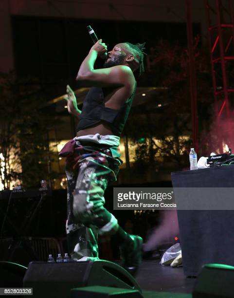 Rapper Zebra Katz performs onstage at The Broad on September 23 2017 in Los Angeles California