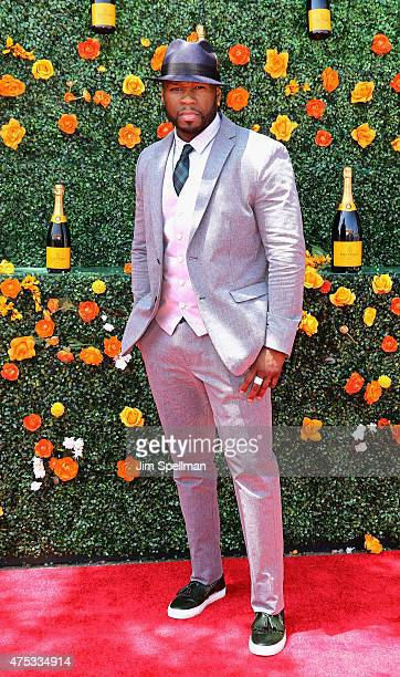 Rapper/actor 50 Cent attends the 8th Annual Veuve Clicquot Polo Classic at Liberty State Park on May 30 2015 in Jersey City New Jersey