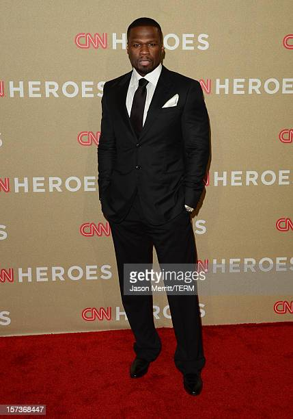 Rapper/actor 50 Cent attends the CNN Heroes: An All Star Tribute at The Shrine Auditorium on December 2, 2012 in Los Angeles, California....