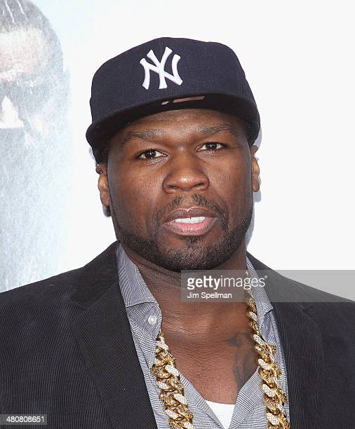 Rapper/actor 50 Cent attends the 'Noah' New York Premiere at Ziegfeld Theatre on March 26 2014 in New York City