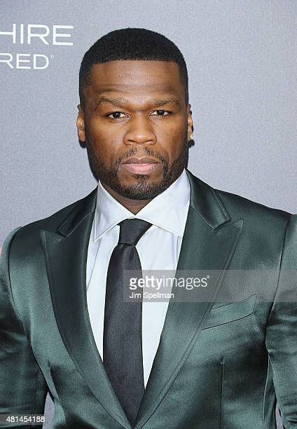 Rapper/actor 50 Cent attends the 'Southpaw' New York premiere at AMC Loews Lincoln Square on July 20 2015 in New York City