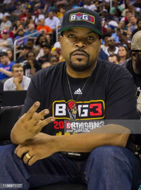 Rapper/Actor and Big 3 founder Ice Cube poses for the camera during the BIG 3 Basketball event on Saturday July 20, 2019 at the Sprint Center in...