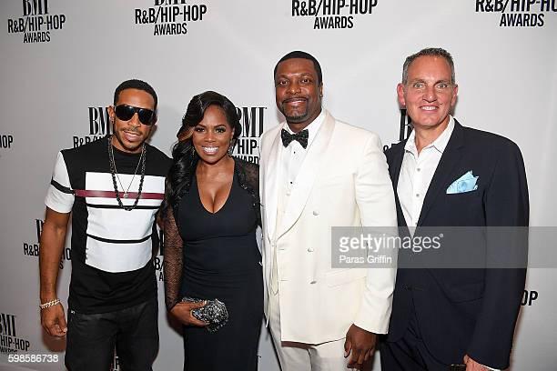 "Rapper/Actor Chris ""Ludacris"" Bridges, Vice President of Writer/Publisher Relations Catherine Brewton, comedian/actor Chris Tucker and President of..."