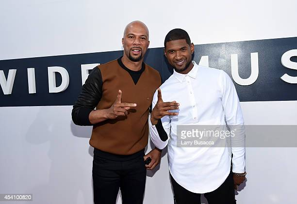 Rapper/actor Common and singer Usher attend the 2014 MTV Video Music Awards at The Forum on August 24 2014 in Inglewood California
