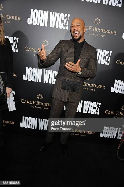 Rapper/actor Common attends the premiere of Summit Entertainment's 'John Wick Chapter Two' at ArcLight Hollywood on January 30 2017 in Hollywood...