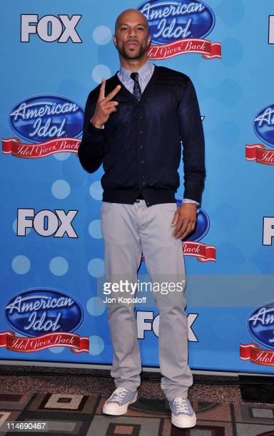 Rapper/actor Common poses at Idol Gives Back 2010 at Pasadena Civic Center on April 21, 2010 in Pasadena, Texas.