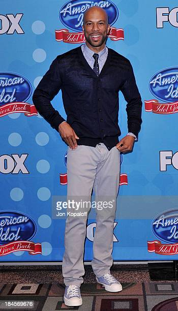 Rapper/actor Common poses at Idol Gives Back 2010 at Pasadena Civic Center on April 21 2010 in Pasadena Texas