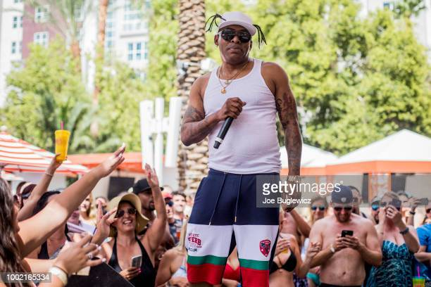 Rapper/actor Coolio performs at the Flamingo Go Pool Dayclub at Flamingo Las Vegas on July 19 2018 in Las Vegas Nevada