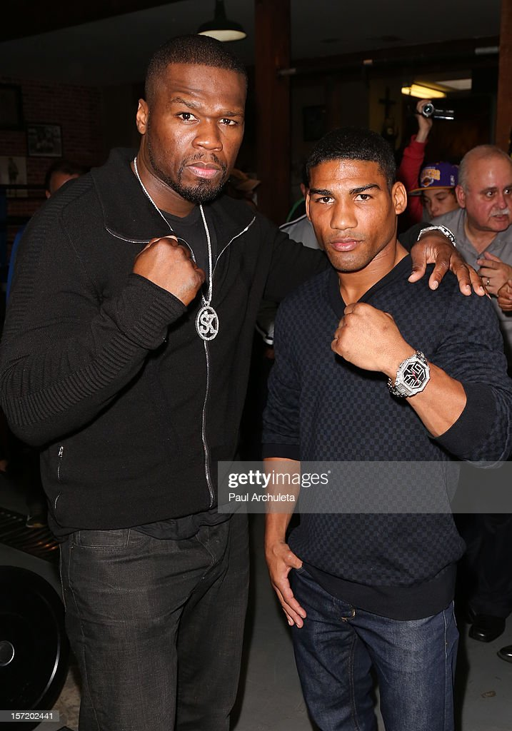 "Yuriorkis Gamboa And Curtis ""50 Cent"" Jackson Host A Los Angeles Media Workout"