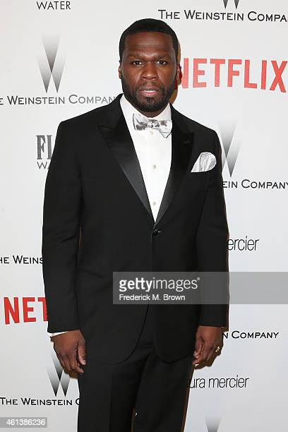 Rapper/actor Curtis '50 Cent' Jackson attends the 2015 Weinstein Company and Netflix Golden Globes After Party at Robinsons May Lot on January 11...