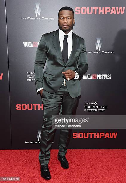 Rapper/actor Curtis 50 Cent Jackson attends the New York premiere of 'Southpaw' for THE WRAP at AMC Loews Lincoln Square on July 20 2015 in New York...