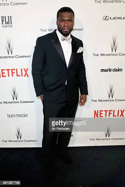 Rapper/actor Curtis 50 Cent Jackson attends The Weinstein Company Netflix's 2015 Golden Globes After Party presented by FIJI Water Lexus Laura...