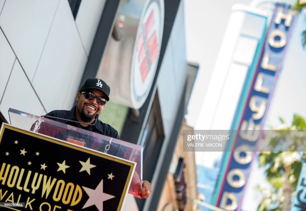 Rapper/actor Ice Cube attends his star unveiling ceremony on the Hollywood Walk of Fame, on June 12, 2017, in Hollywood, California. /
