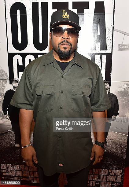 "Rapper/actor Ice Cube attends ""Straight Outta Compton"" VIP Screening With Director/ Producer F. Gary Gray, Producer Ice Cube, Executive Producer Will..."