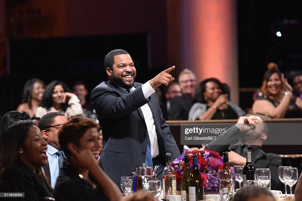 Rapper-actor Ice Cube attends the 2016 ABFF Awards: A Celebration Of Hollywood at The Beverly Hilton Hotel on February 21, 2016 in Beverly Hills, California.
