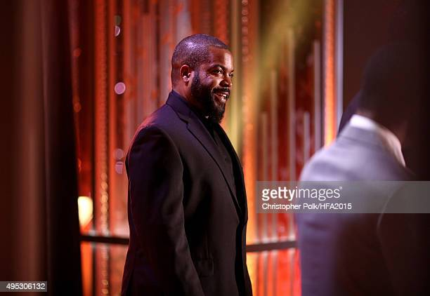 Rapper/actor Ice Cube speaks onstage during the 19th Annual Hollywood Film Awards at The Beverly Hilton Hotel on November 1 2015 in Beverly Hills...