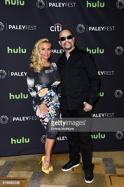 Rapper/actor IceT and Coco arrive at The Paley Center For Media's 33rd Annual PaleyFest Los Angeles presentation of 'An Evening with Dick Wolf with...
