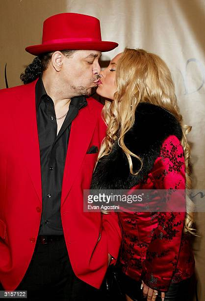 Rapper/actor IceT and date Coco arrive at the record release party for Janet Jackson's new CD Damita Jo at Spice Market March 29 2004 in New York City