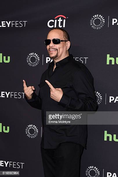 Rapper/actor IceT arrives at The Paley Center For Media's 33rd Annual PaleyFest Los Angeles presentation of 'An Evening with Dick Wolf with the stars...