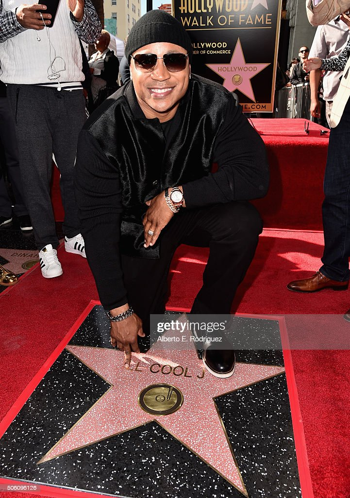 LL Cool J Honored With Star On The Hollywood Walk Of Fame : News Photo
